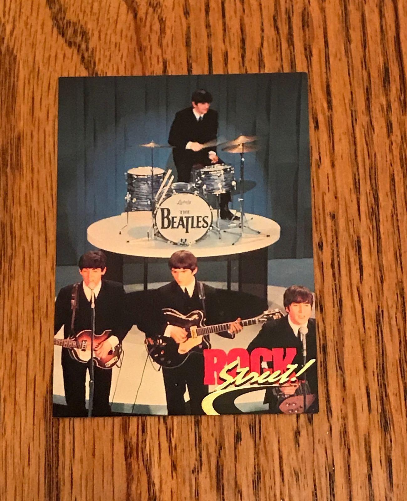 BEATLES THE 1991 ROCKSTREET PROTOTYPE PROMO CARD 2 JOHN PAUL GEORGE RINGO