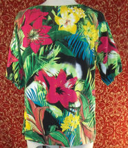 THOMAS & OLIVIA stretch cotton floral short sleeve tunic blouse PL (T2503C8G) image 8