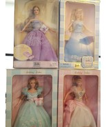 Barbie Birthday Wishes Lot Of 4 Vintage Collectors Series with COA and b... - $98.95