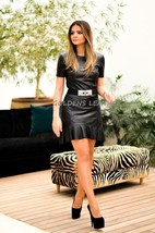 Golden's Leather Genuine soft sexy Lambskin Leather Women Cocktail  Dres... - $132.05