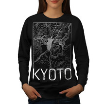 Kyoto City Map Fashion Jumper Town Map Women Sweatshirt - $18.99