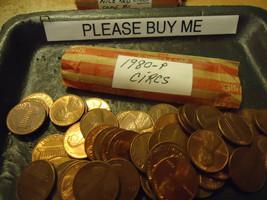 1980-P Lincoln Cent Roll Circs >> C/S & H - $1.98