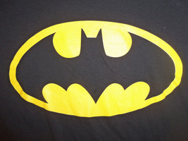 DC Comics Batman Super Hero Logo Black Graphic Print T Shirt - L - $17.17