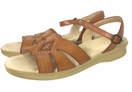 SAS Tripad Comfort Huarache Sandals Womens 10.5 S Narrow Strap Brown Wal... - $70.28