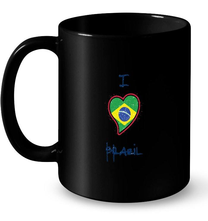 Brazil Flag Patriotic Gift Coffee Mug