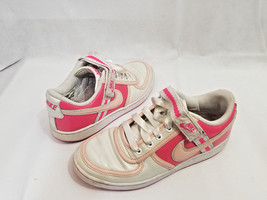 NIKE retro 2007 SHOES size 9 Hot PINK Coral white VARSITY Swoop Velcro &... - $89.09
