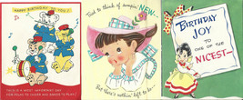 Vintage Birthday Cards 1940 - 50's Pop Up Hallmark USA Mixed Greeting Ca... - $8.59