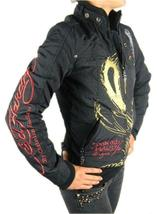 NEW ED HARDY CHRISTIAN AUDIGIER WOMEN'S PREMIUM JACKET BLACK PANTHER SIZE XS image 5