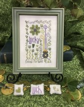 Lucky Notes holiday cross stitch chart Shepherd's Bush     - $8.00