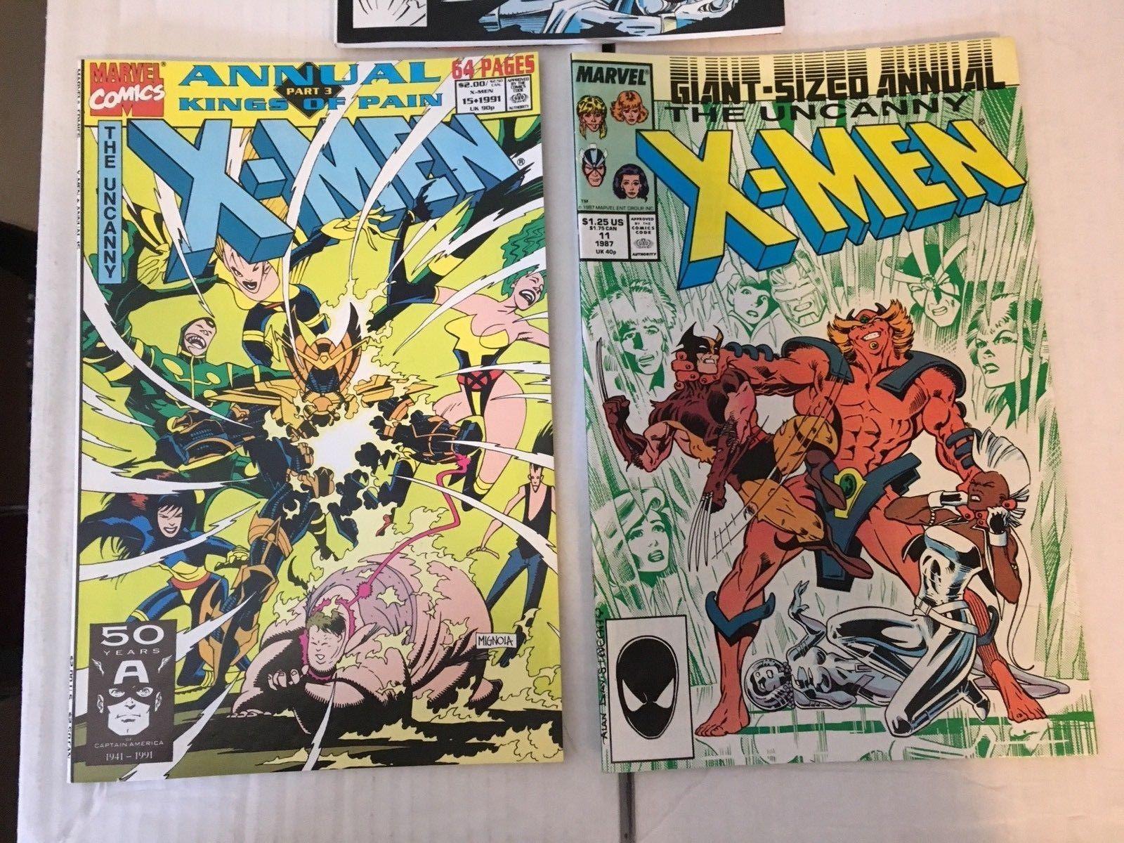 Uncanny X-MEN Annual 11 15 16 Marvel Comic Book Lot Of 3 VF+/NM Condition
