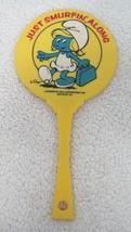 Vintage Smurf Hand Mirror Just Smurfin Around Peyo 7 1/4 In Smurfette T64 - $18.32