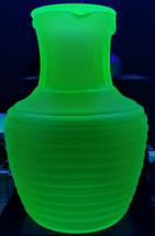 Vaseline Glass Jug Frigidaire Org. w-Cap Art Deco Real 1930's Rare & Per... - $210.38