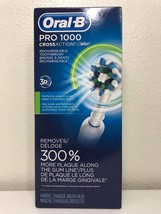 Oral-B PRO 1000 CrossAction Rechargeable Toothbrush, White - Factory Sealed - $29.99