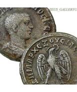 PHILIP II bare head / Eagle SC. Tetradrachm Scarce Ancient Roman Empire ... - $265.50