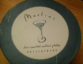 Pottery Barn  Martini Cocktail Plates, Set Of 4 - $25.73