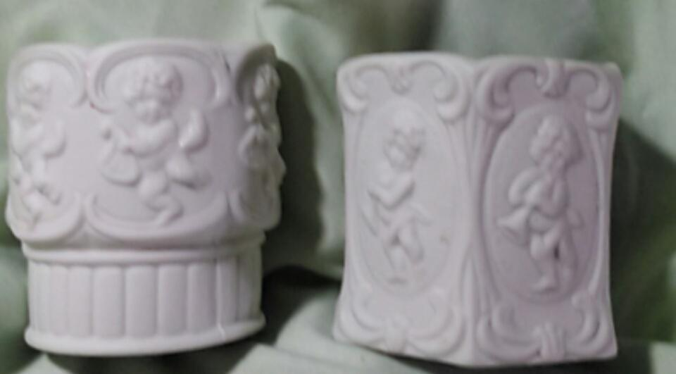 Vintage Home Interiors Porcelain Cherub Votive Cups - Set of 2