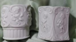 Vintage Home Interiors Porcelain Cherub Votive Cups - Set of 2 image 1