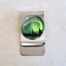 Aurora Borealis Northern Lights Stainless Steel Money Clip - $20.00