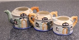 Cottageware Occupied Japan teapot, creamer and sugarbowl - $20.00