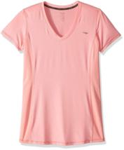 Large Copper Fit Women's Tee Shirt Comfort Compression Side Panel V-neck T-Shirt