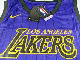 LEBRON JAMES / AUTOGRAPHED LOS ANGELES LAKERS PRO STYLE BASKETBALL JERSEY / COA image 6