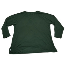 Calvin Klein Performance Plus Size Cross-Over Hem Top Sweatshirt Green 3X MSR... image 2