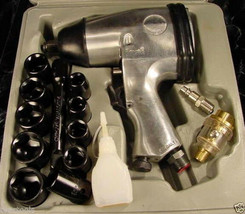 "17pc 1/2"" Drive Air Impact Wrench Kit With Socket Set Oil And Tool Case Oiler - $44.99"