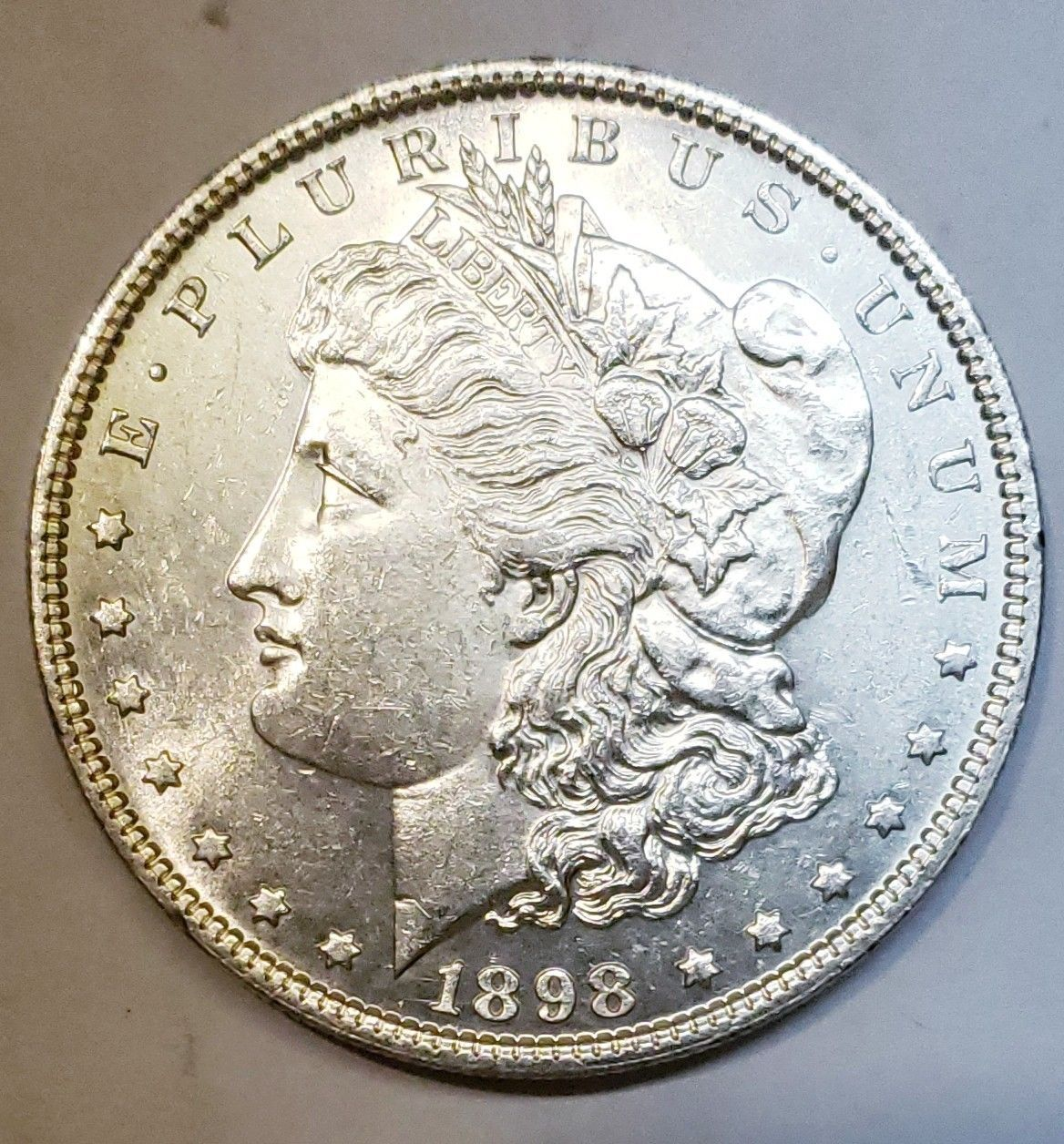 1898 $1 Morgan Silver Dollar Coin Lot # E 112