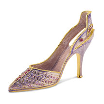 Non Metal Bejeweled Crystal Enameled Lavender High Heel Card Holder (Len... - $26.32