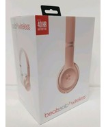 Beats Solo 3 Wireless On-Ear Headphones Rose Gold Bluetooth Microphone F... - $188.09