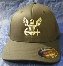 USN United States Navy Veteran Eagle Logo FlexFit Hat - $37.49