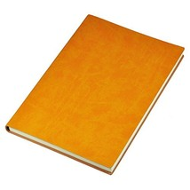 Littfun A5 Note Book Leather Journal 7 Color Optional Orange - $12.74
