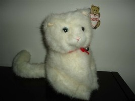 Vintage Gund 1986 Tiffany White Cat With Bell Made Exclusively Eaton Canada - $175.43