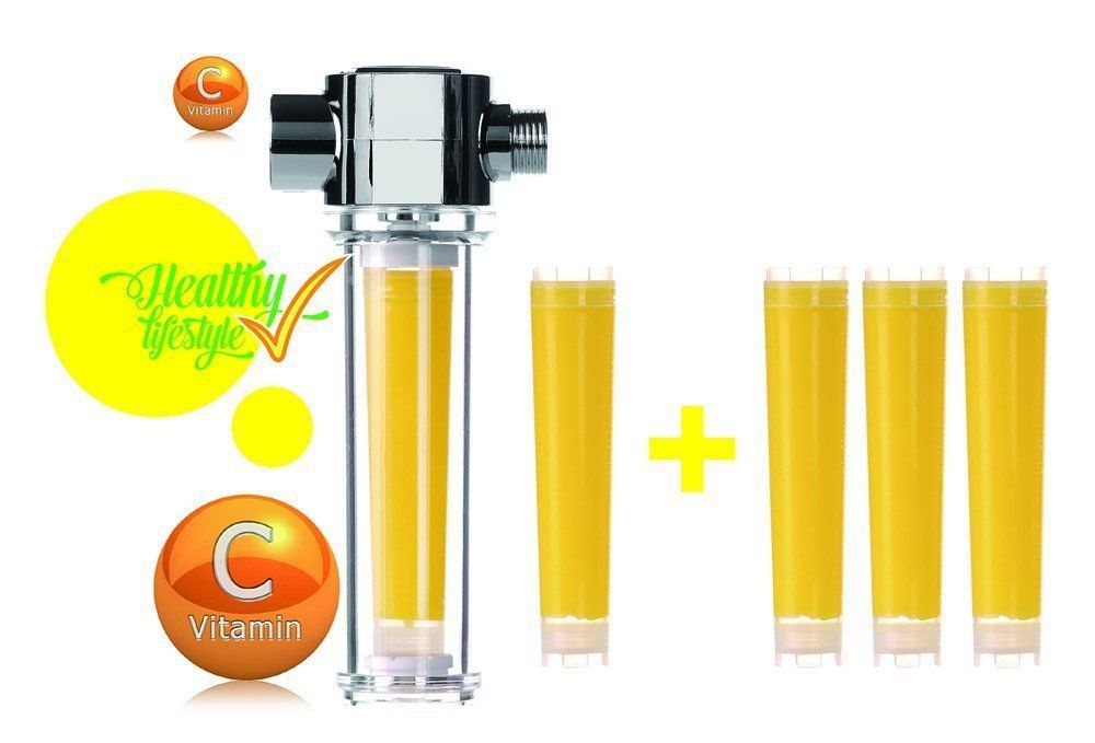 VitaFresh Vita Gel Shower Filter with 4 Vitamin C Gel Cartridge UBS