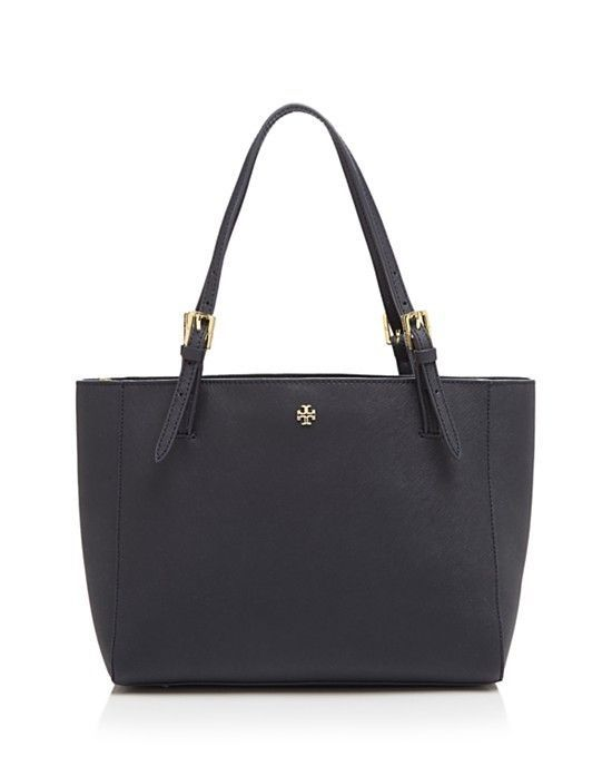 Primary image for NWT Tory Burch Original YORK Buckle Shoulder Leather Tote BLACK $300+ AUTHENTIC
