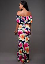 Ruffle Off Shoulder Maxi Dress At Bling Brides Bouquet Online Bridal Store image 3