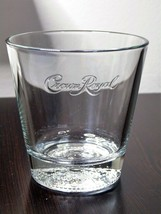 Crown Royal Embossed On Side And Bottom Rocks Glass - $10.45