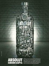 ABSOLUT SUBODH GUPTA Vodka Magazine Ad From India RARE! - $9.99