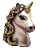 Golden Beautiful Unicorn Bank gorgeous beauty mythical mystical - $25.00