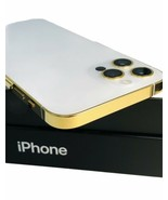 CUSTOM 24K Gold Plated Apple iPhone 12 Pro MAX - 128 GB - Silver - Unlocked - $1,994.05