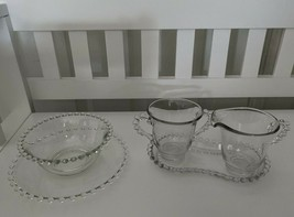 Vtg Imperial Glass Candlewick Lot Cream Sugar Tray Underplate Mayonaise ... - $24.19