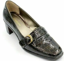 Liz Claiborne Jester Women High Heeled Loafers Size US 7M Brown Patent Leather - $45.99
