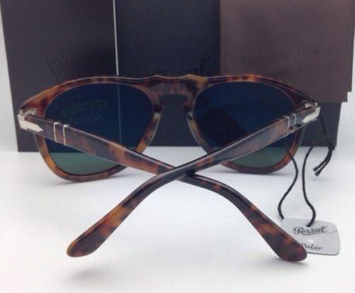 Nuevas Polarizadas Gafas de Sol Persol Po 649 108/58 54-20 Café' con / Cristal