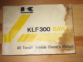 1988 88 Kawasaki Bayou KLF300 Klf 300 B1 All Terrain Vehicle Atv Owner's Manual - $35.81