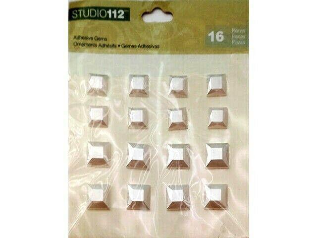 K&Company Studio 112 Square Pearl Adhesive Gem Stickers #30-674196