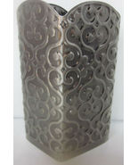 Bath & Body Works Gentle Foaming Hand Soap Sleeve Holder Silver 3D Swirls - $29.99