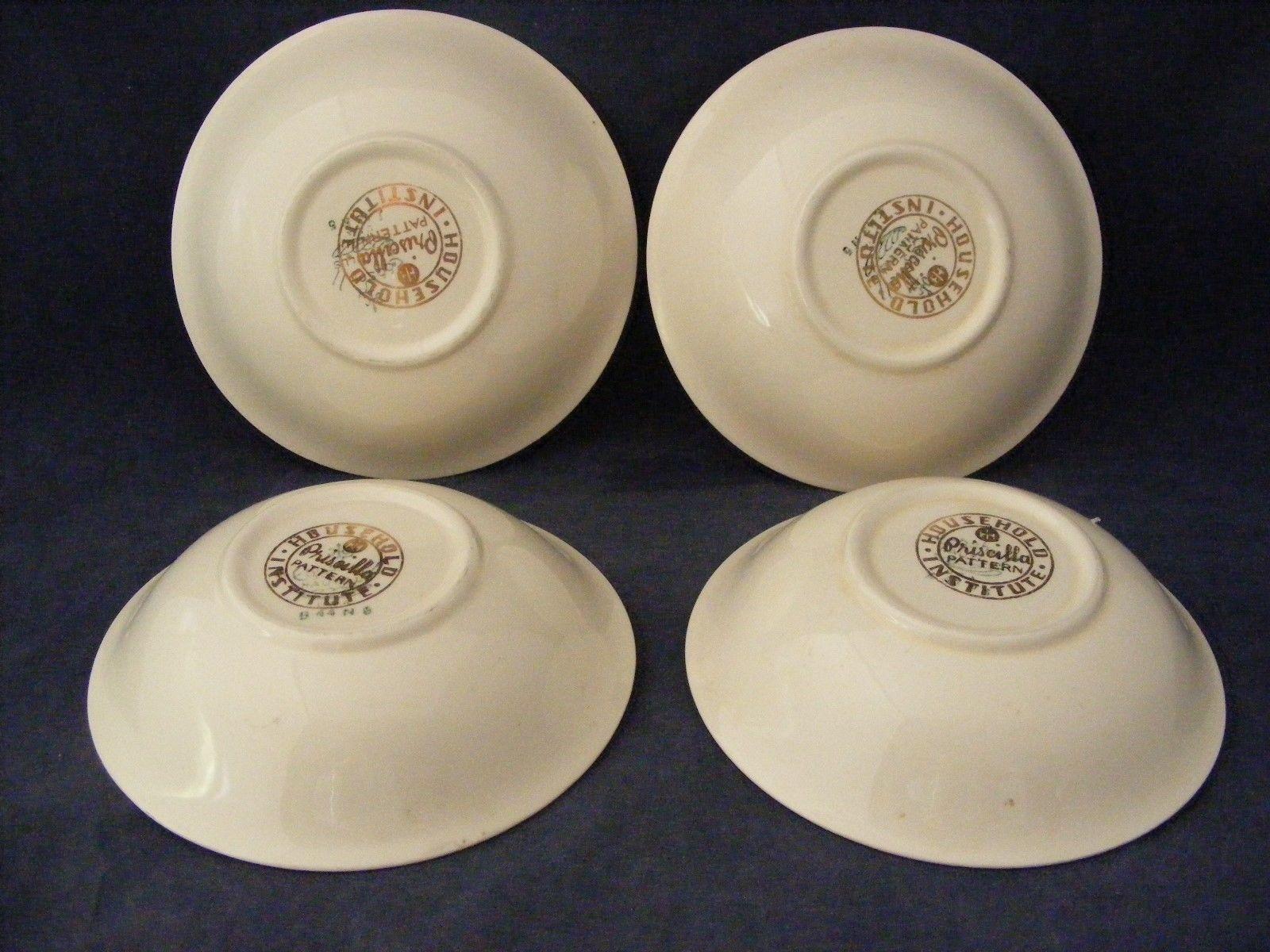 "8 Homer Lauglin Priscilla Eggshell Nautilus 5.25"" Fruit Dessert Bowls"