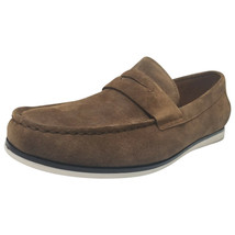 Alfani Mens Sawyer Slip-On Loafers Dark Tan 10.5 MSRP 79.99 New - $54.44