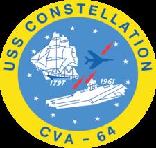 US Navy USS Constellation CVA-64 Crest Decal - $11.87