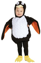 Penquin Black & White Plush Infant or Toddler Belly Costume by Underwrap... - £30.89 GBP